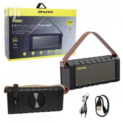 AWEI Y668 WIRELESS SPEAKER AND POWER BANK