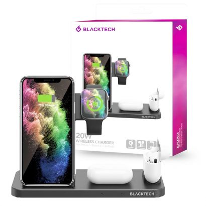 BlackTech 4In1 15W Fast Wireless Charger